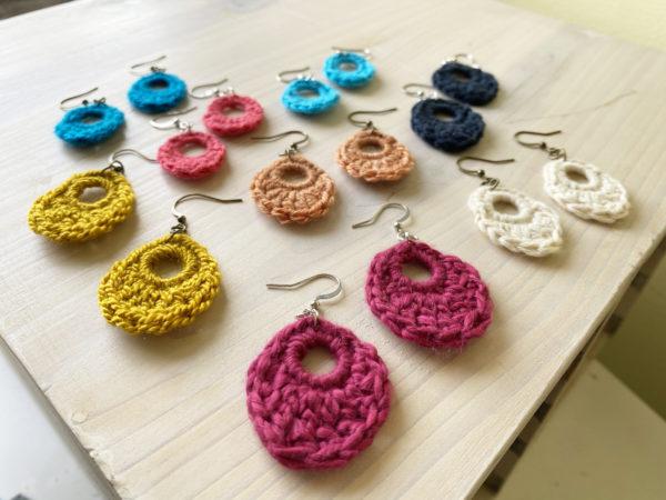 Dewdrop Crochet Earrings