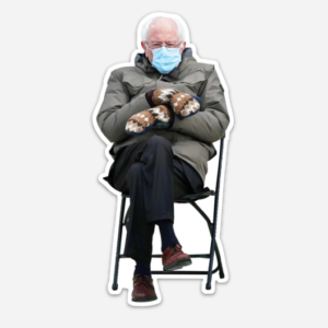 Bernie Sanders at the 2021 Inauguration, magnet